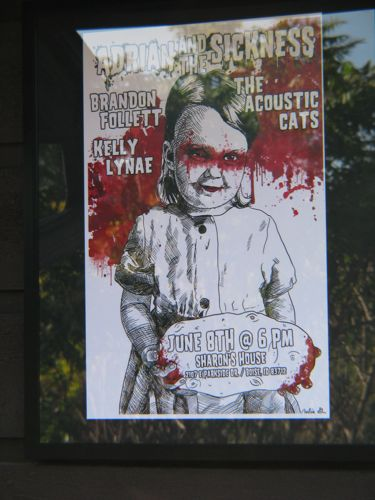 Brandon Follett concert poster Adrian and the Sickness
