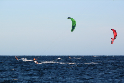 kiteboarding in Los Barriles, Mexico