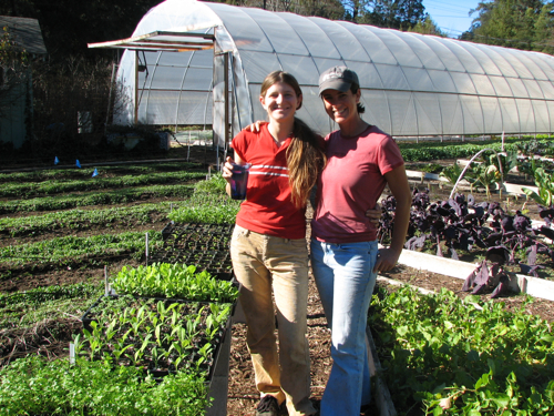 Sara Liber and Amy at Love Apple Farm