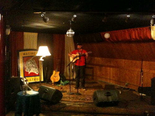 Brandon Follett at maxine's glacier city bistro girdwood, alaska