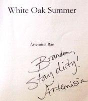 White Oak Summer artemisia rae autograph