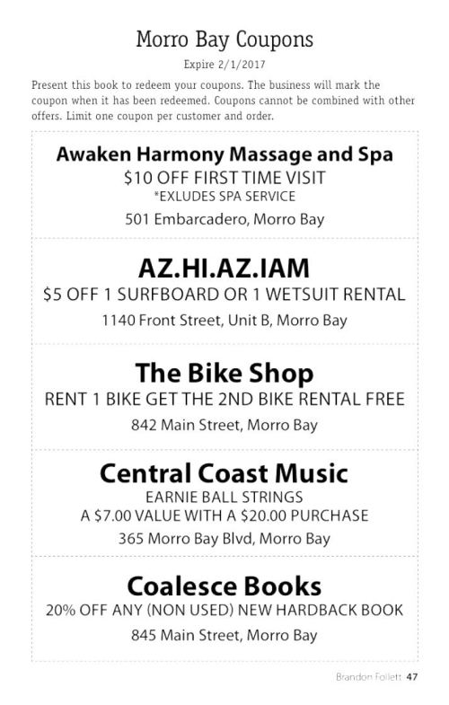Cambria Loves, Me book Morro Bay coupons - 1